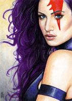 Psylocke Sketch Card 10 by veripwolf