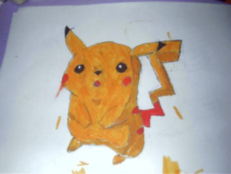 Pikachu drawing by ShadowUltimatePower