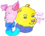 Pooh Bear and Piglet Badge for Mommy by SpellboundFox