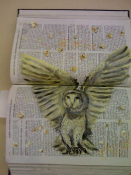 Altered book 2: Epic Neon Flight by 5UNNYR4Y3