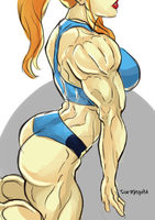 Huge muscle - Samus by roemesquita