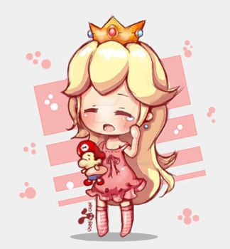 Princess Peach Mario Toy by DollDigitalDesign