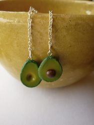 Avocado Polymer Clay Earrings ~ For sale! by paperfaceparade