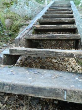 Old Wooden Stairs by MystStock