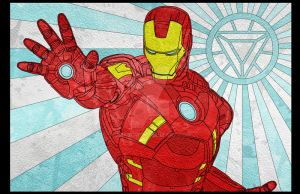 Iron Man Stained Glass by jmascia
