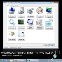 Windows Utilities Launcher 1.1 by ShraOne