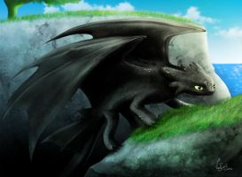 Toothless, the Night Fury by VanEvil