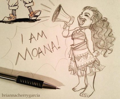 I Am Moana by briannacherrygarcia