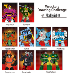 G1 Marvel Era Wreckers Drawing Challenge by Skullgrin-140