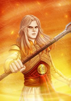 Rainbow of Evil: Orange for Nuada by ryodita