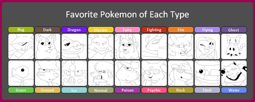 Favourite Pokemon of each type meme by FR0NTlER