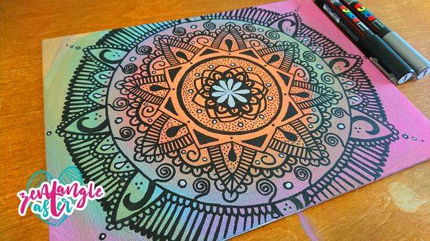 Small Mandala with Posca Markers by AsterBarnes