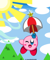 :Kirby: Parasol - Gildin' in the Sky! by Plucky-Nova