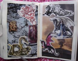 1st Altered Book 36, Favorites by angelstar22