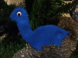 Dinosaur Christmas Ornament 2 by No-Dogs-Allowed