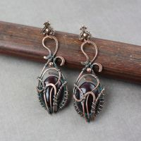 Earrings 'Black Bird' by WhiteSquaw