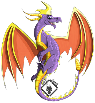 The Classic Purple Dragon by VinnyGaming