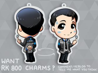 RK800 Connor Charms? (Comment!) by Smudgeandfrank