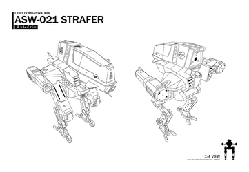 Strafer quarter view lineart by CMG-simplestuff