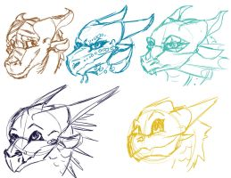 [WoF] Dragonet Sketches by Mollish