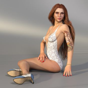 The Girl With The Tattoo by Roy3D