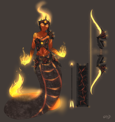 T5 Medusa Concept | Fire Form by BookmarkAHead