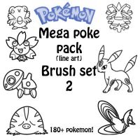 the mega poke pack brush set 2 by Desicat674