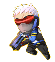 Soldier 76 Overwatch Chibi by aplocads