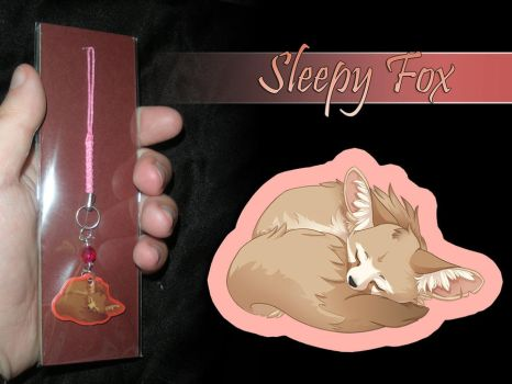 Phone Charm - Sleepy Fox by neondragon