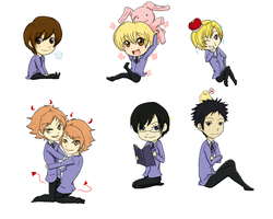 Ouran Host Club by Harusokuze