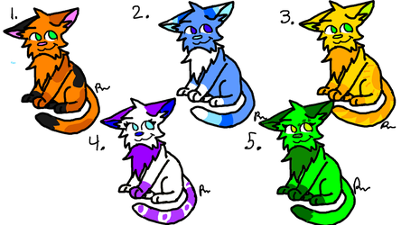 Adoptables -OPEN- 2/5 by skyfeather0066