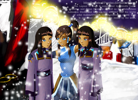 Korra and Her Cousins by Galistar07water