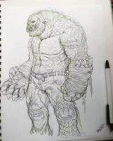 killer croc sketch 3 by TheWolfMaria