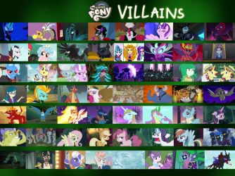 MLP Villains (Version 2) by JustSomePainter11