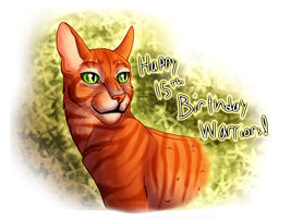 Happy 15th Birthday, Warriors!!! by Jayie-The-Hufflepuff