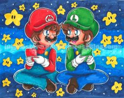 + Collab~ 3DS Star Bros. + by luigisister