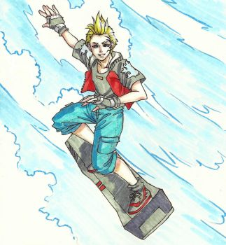 Zell On His T-Board by vikkidiamos
