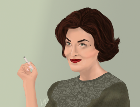 Older Audrey Horne by kolps
