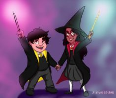 Connie and Steven Hogwarts AU by nowhere-man-art