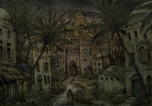 Medieval arabic city - The Marsh Gate by Hetman80