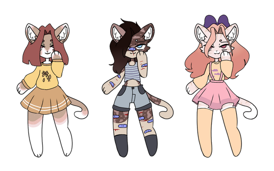ota anthro kitty adopts! open by bIushi