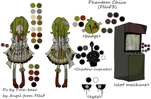 Phantom Chica mini reference(FNaF3) by One-hell-bunny