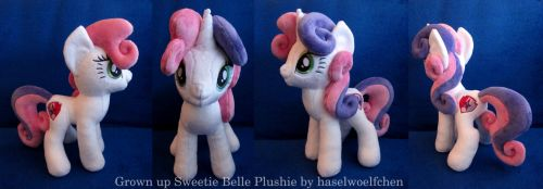 Grown Up Sweetie Belle Plushie by haselwoelfchen