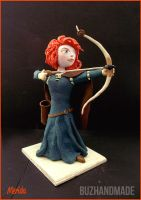 Merida Clay Sculpture - FANART by buzhandmade