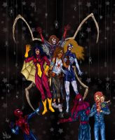 Spider-Family Color by albiemo