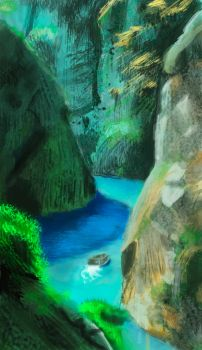 1 hour study - River in Portugal by leandroh00