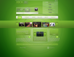 Xbox 360 Website by e-Quinox