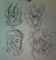 Demons and Monsters headshots by Siromany