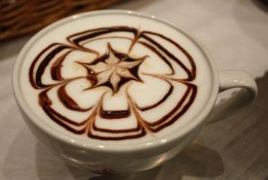 Chocolate Flowered Latte 3 by MochaCat