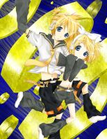 Rin Len Falling waa!/BEFORE AND AFTER COMING SOON/ by lil-midori